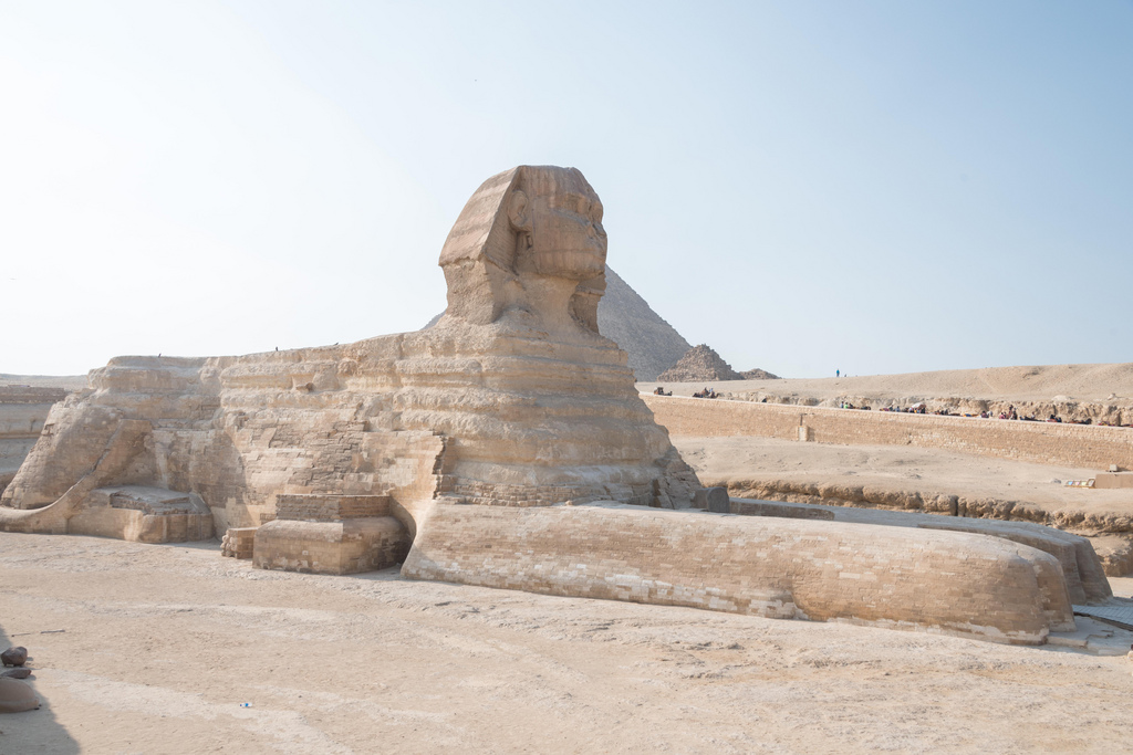 The Sphinx at Giza.