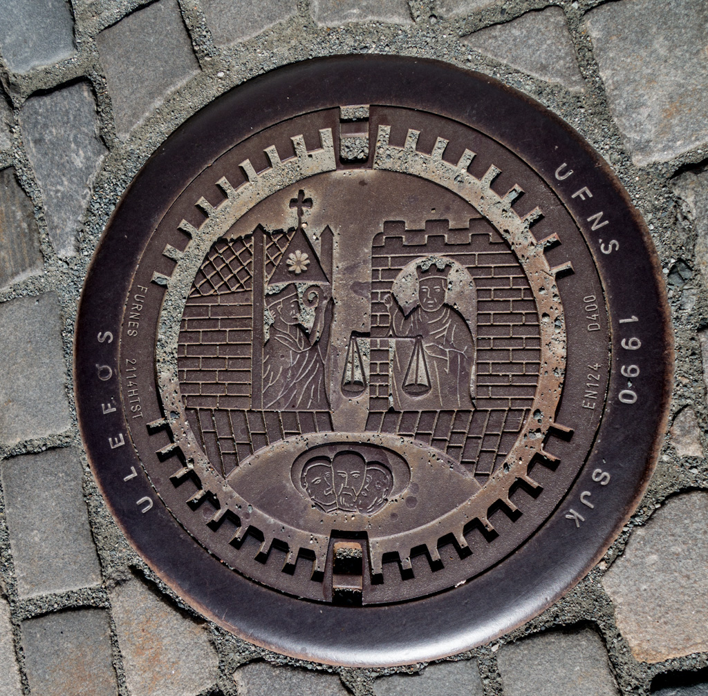 Many towns have unique and interesting manhole covers.