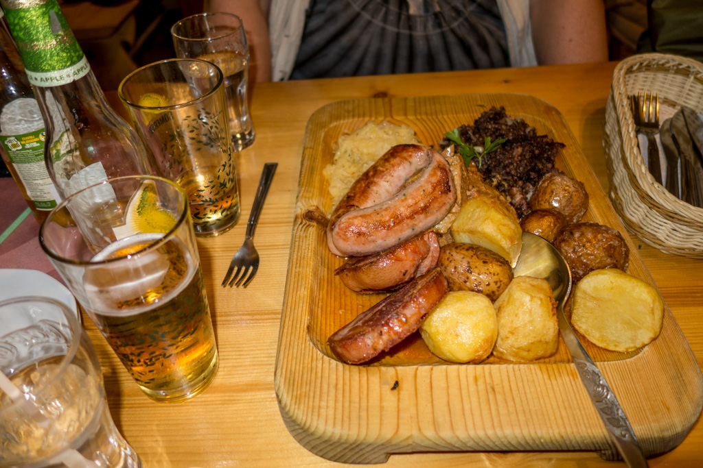 Traditional Polish food. We aren't going to starve here.