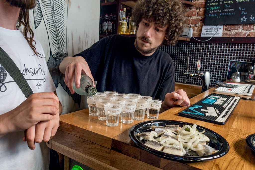 Vodka and herring: a match made in heaven.