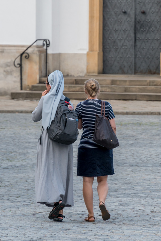 We saw lots of nuns in Poland, including this one with backpack and Tevas.