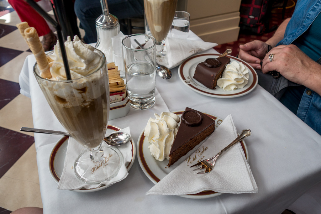 The original, the famous, the delicious Sacher Torte.