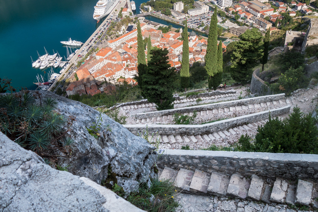 Kotor as seen after climbing many steps.
